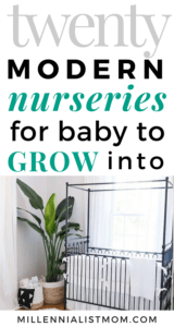 modern nurseries FOR BABY TO GROW INTO