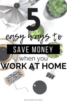You can save money working at home and I want you to know the 5 easy ways you can do it too! Cutting a commute, low maintenance wardrobes, homemade lunches, and generally just NOT wasting money on an outdated lifestyle. #Frugalliving starts at home, and why wouldn't you want to make the most of your paycheck? Start saving your money easily by entertaining #workathome options.