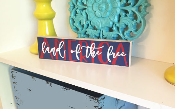 Wood DIY Look Patriotic Decor | 4th of July | America Land of the Free Wood plate | red white and blue | memorial day decor