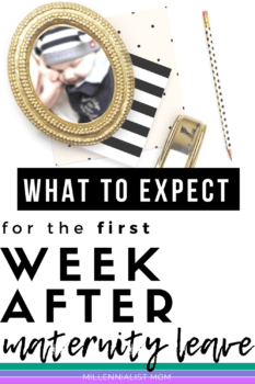 Returning to work after maternity leave is HUGE. You've been preparing/dreading/dreaming it for weeks or months. Here's what you can expect the first week back to work. Bracing Yourself for the First Week Back to Work | Millennialist Mom #workingmom #maternityleave