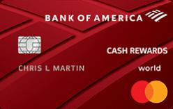 bank of america cash rewards credit card image