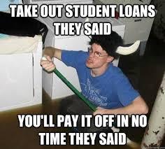 Image result for college debt meme