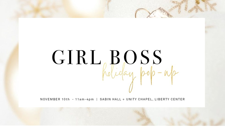 One of my Thursday Things picks this week, the Girl Boss Events Holiday Pop-Up is Saturday, November 10.