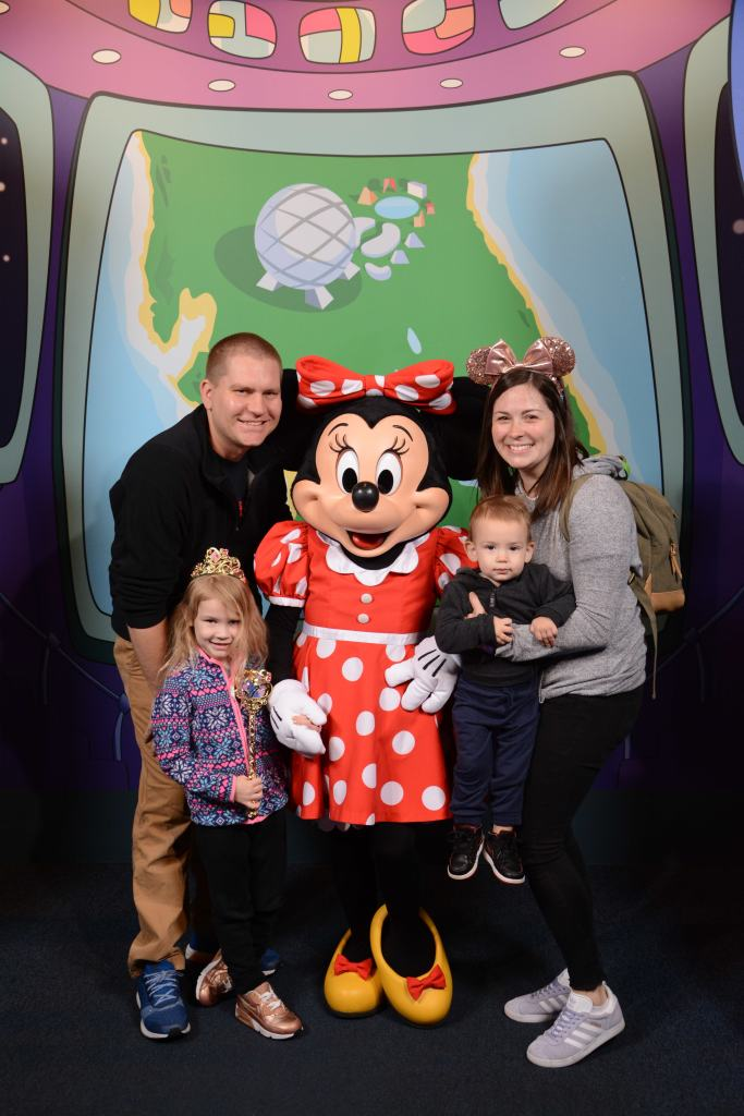 With Minnie at Epcot