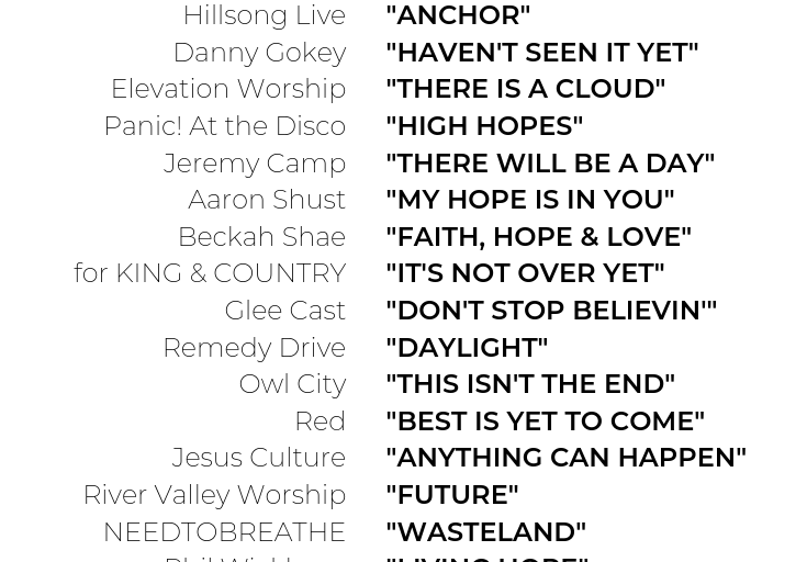 23 Songs to Give You Hope