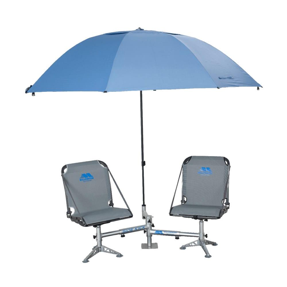 fishing chair umbrella holder replacing wicker back chairs shade tree millennium marine