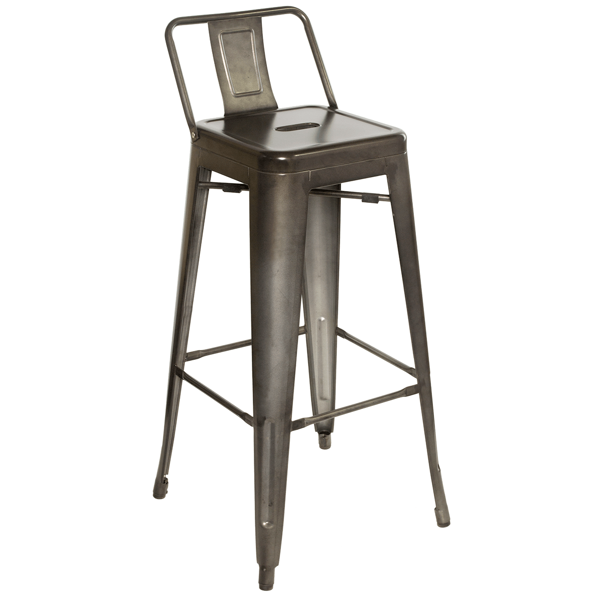 Galvanized Steel Chairs Industrial Bar Stools Millennium Seating Usa
