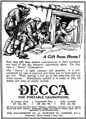 Decca wind up gramophone advert