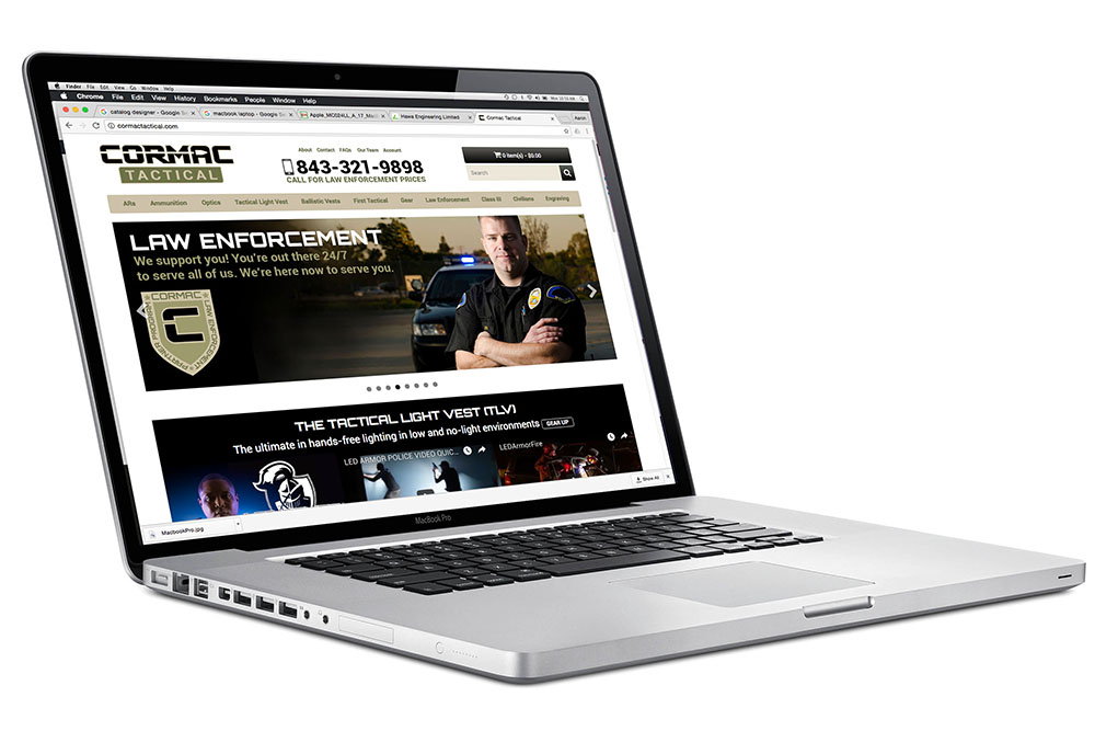 Cormac Tactical E-Commerce Website