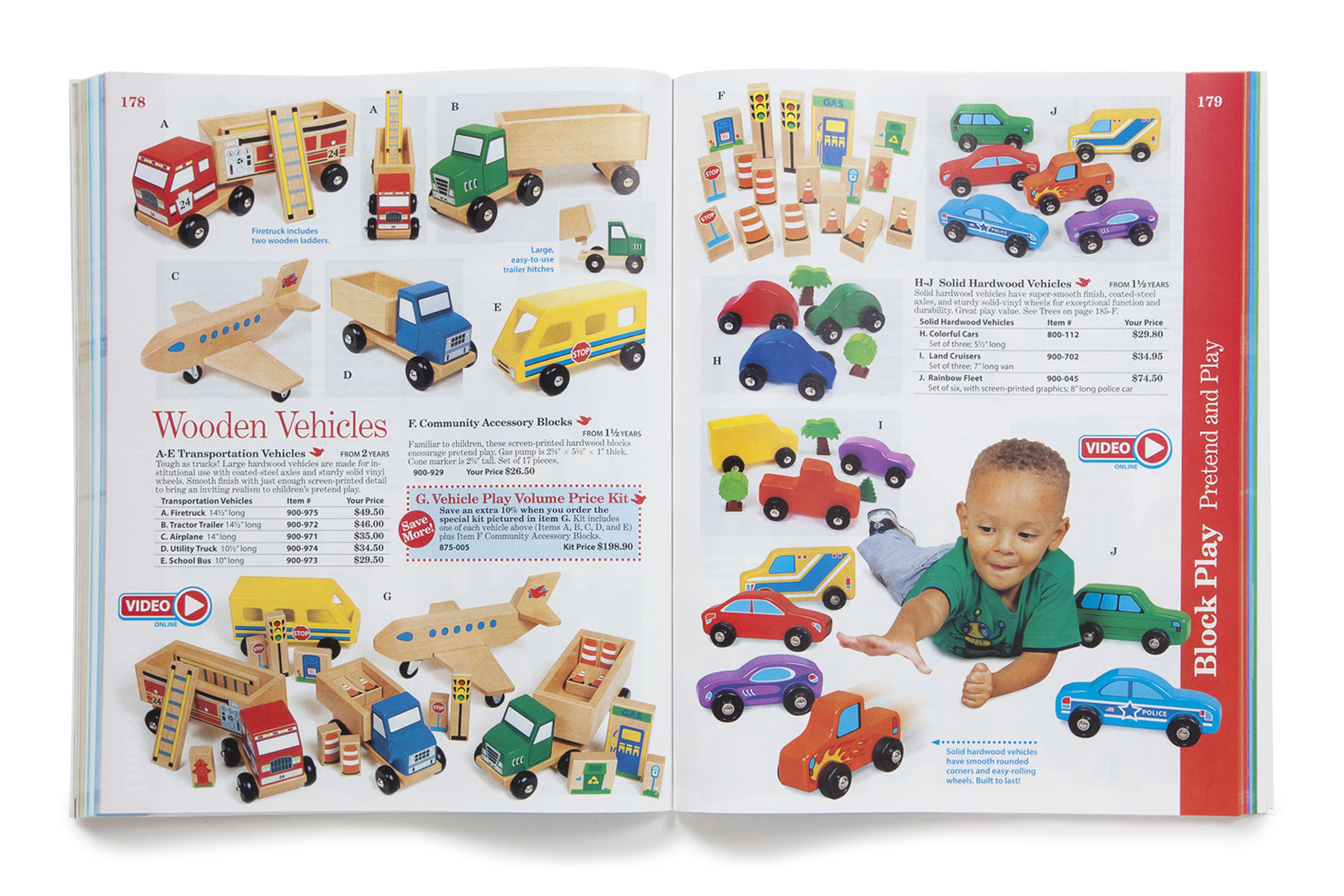 Block Play section spread