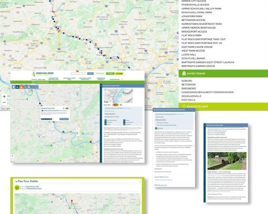 Schuylkill River Interactive Water Trail Map