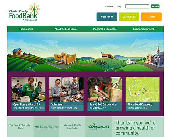 Chester County Food Bank Website Design