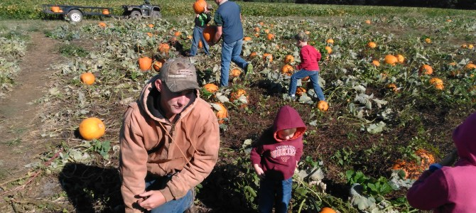 Monday Oct 14, we are open 8am-6pm.  Pumpkin Patch, Corn Maze, Free Hayrides