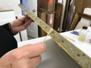 Migration of wax to edge.