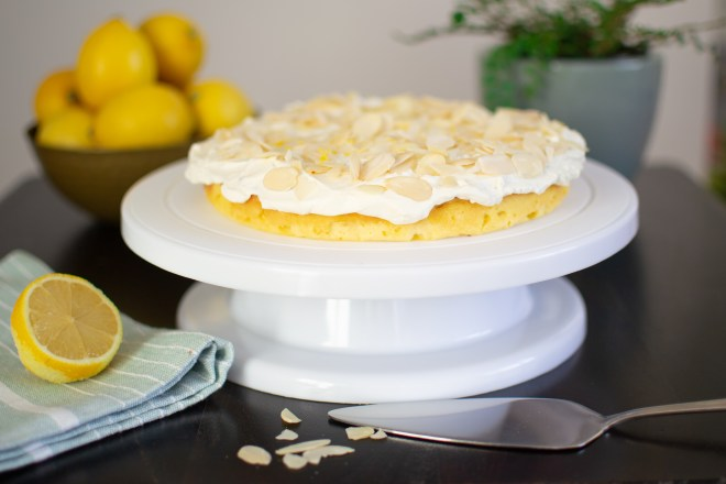 lemon coconut almond cake