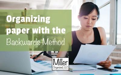 Paper Organizing Strategy: The Backwards Method