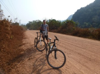 mit dem Mountainbike unterwegs