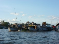 Händler auf dem Floating Market