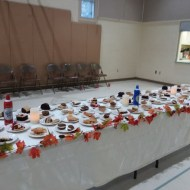 Photo showing the dessert table at the 2018 Beef Stroganoff Dinner