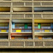 Le Corbusier, La maison radieuse de Rezé, Balcons Facade Ouest