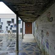 Le Corbusier, La maison radieuse de Rezé, Toit terrasse entrée école maternelle