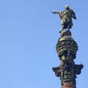Barcelone, quartier des Remblas, La statue de Cristophe Colomb