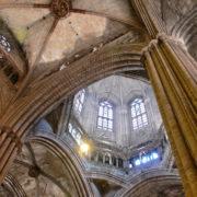Barcelone, Barri Gotic, La cathédrale (la Seu): Piles et voute