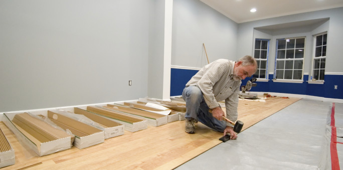 Installing Laminate Floor; home improvement tips