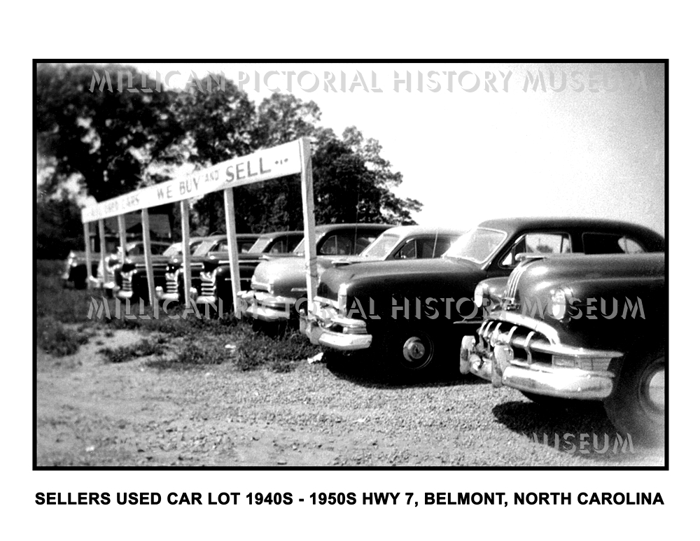 Sellers Used Car Lot 1940s – 1950s cars Hwy 7, Belmont, North ...
