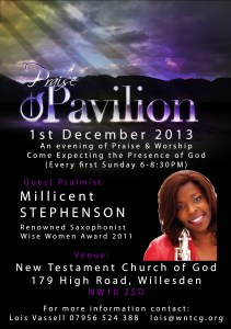 Millicent - Praise Pavillion Willesden NTCG High Road, NW10  2SD