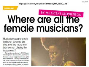 Keep The Faith Issue 102 Sample Millicent Stephenson Where Are All The Female Musicians