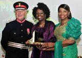 Millicent Stephenson receiving her award