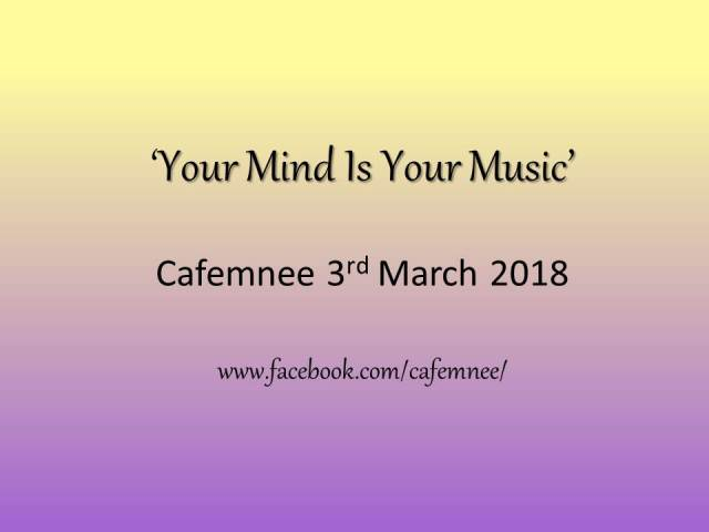 Your Mind Is Your Music' Flyer 1