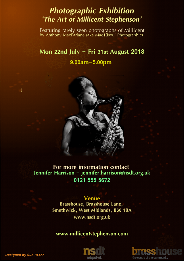 Not Just Jazz V Photographic Exhibition August Flyer Millicent Stephenson v2