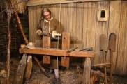 A woodturner