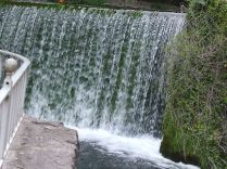 Weir at millnext to visiter centre