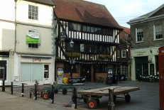 Old Queen's Head pub on the edge of the Market Square
