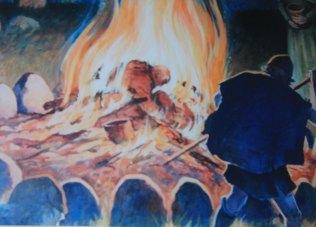 Viking funeral pyre