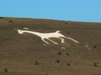 Alton Barnes White Horse in Wiltshire. This was designed and cut in 1812. by Robert Pile of Manor Farm Author: Brian Robert Marshall . Creative Commons