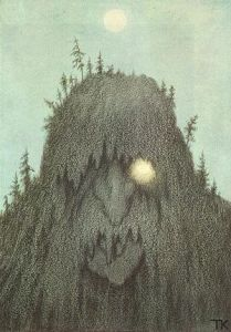 Forest troll. Artist Theodor Kittelson, 1906. Source photographer unknown. Public Domain