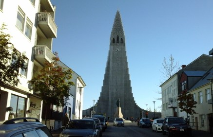 The Hallgrimskirkja. This church dominates the skyline in Reykjavik.