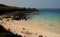 Porthmeor Beach looking away from St Ives