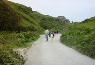 Path from village to Tintagel 'island' and castle