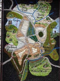 Close up of Buxton Civic Assocaition Well Dressing