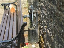 The tap/pump at the Christopher Wren well dressing.
