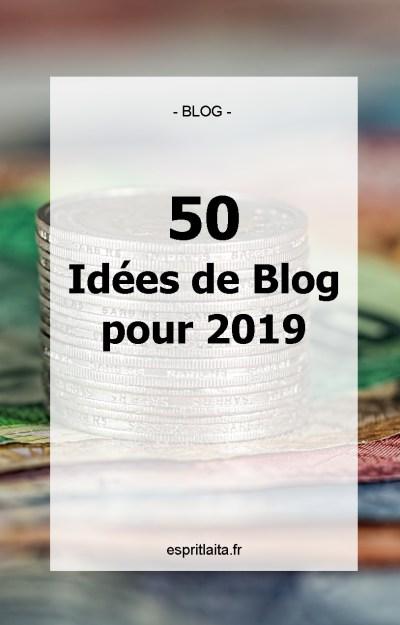 50 idées de blog