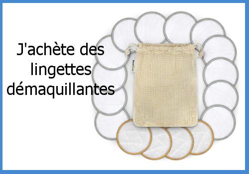 Faire des économies avec des produits et des objets lavables et réutilisables - lingettes démaquilllantes
