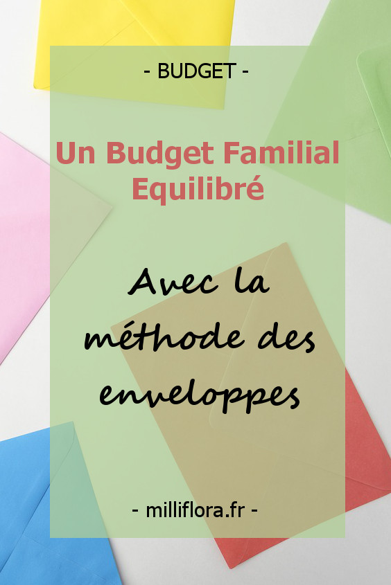Un budget familial équilibré avec la méthode des enveloppes