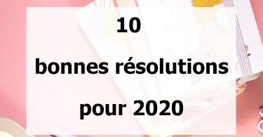 10 bonnes résolutions pour mes finances en 2020