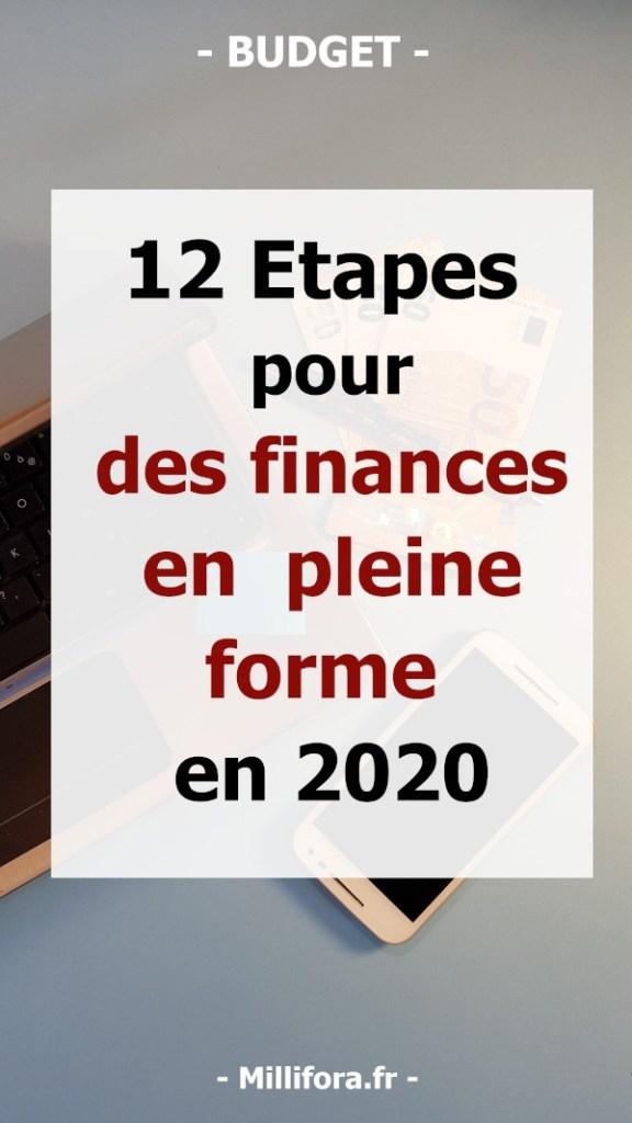 12 étapes pour des finances en pleine forme en 2020 - Bonnes résolutions